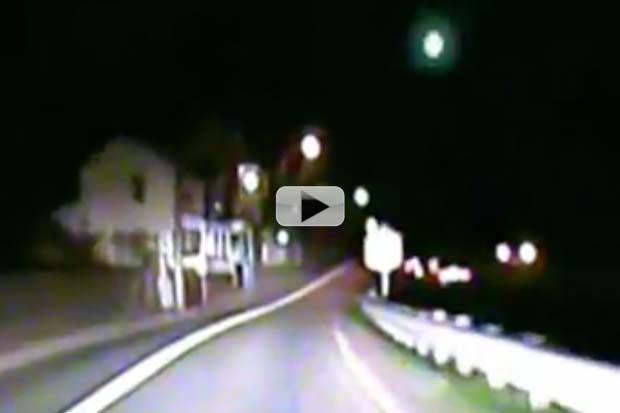 Fireball Over West Virginia Snapped By Police Dashcam | Video