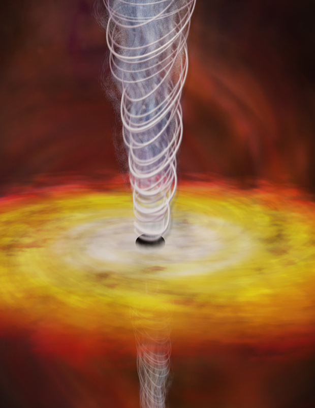 Rare Flickering Black Hole Jet Challenges Theories