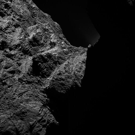 Rosetta's imaging system OSIRIS captured this image on Oct. 30 from about 19 miles (30 kilometers) away from Comet 67P/C-G.
