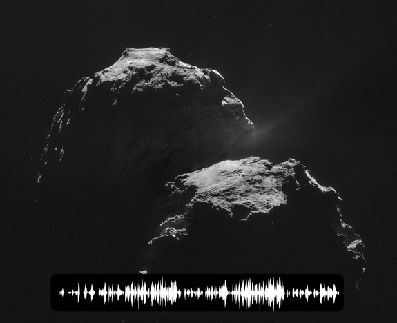 "Scientists have picked up on the ""sound"" of Comet 67P/Churyumov-Gerasimenko speeding through space."