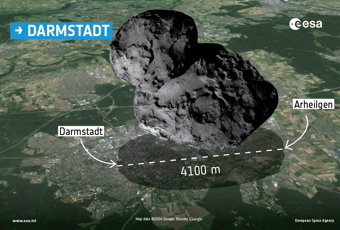 Comet 67P-GC Over Damstadt, Germany
