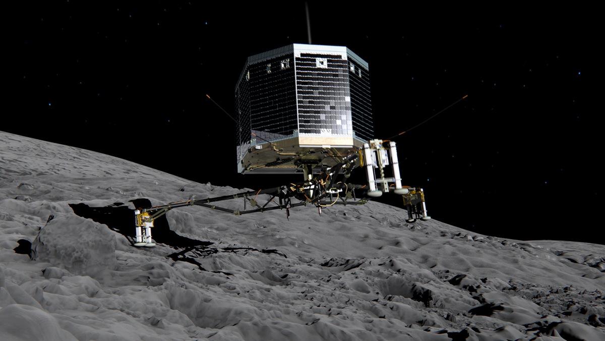 Philae Lander on Comet 67P/Churyumov-Gerasimenko