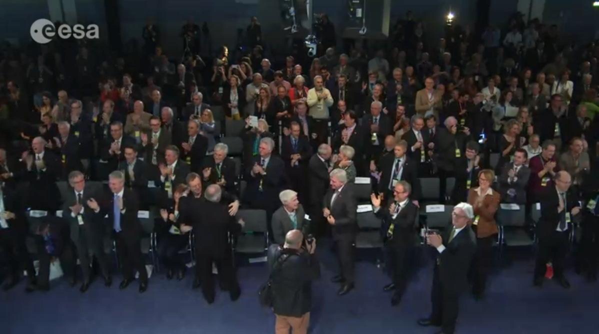 Philae Celebration at  ESOC, Darmstadt, Germany