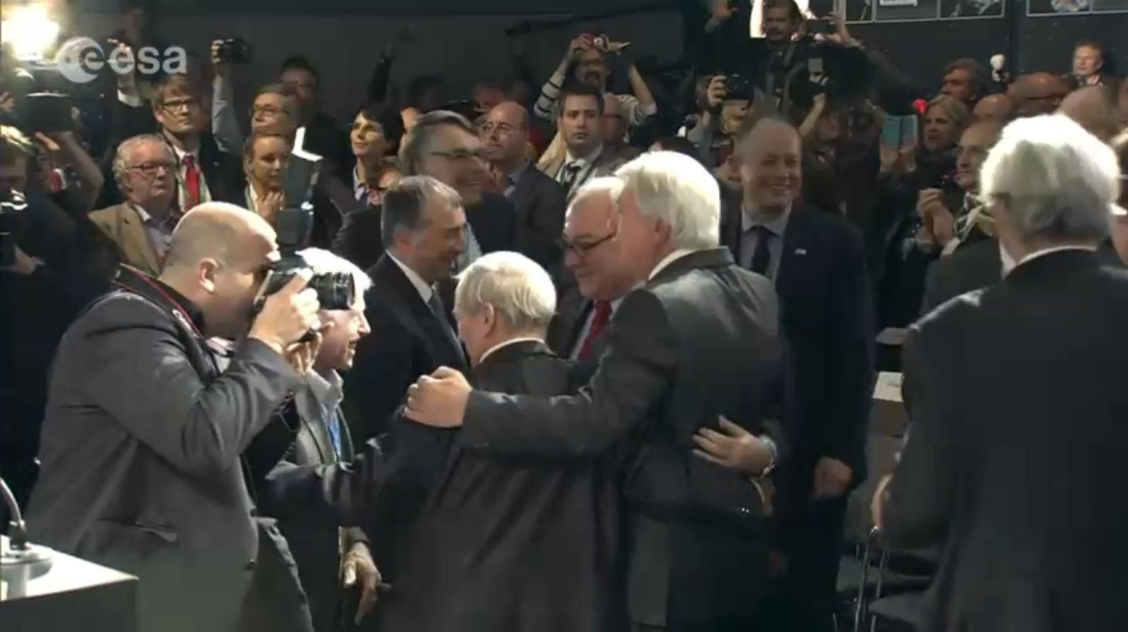 Officials Celebrate Philae Landing
