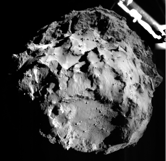 The ROLIS instrument took a snapshot of comet 67P/CG as Europe's Philae lander descended toward the surface on Nov. 12, 2014.