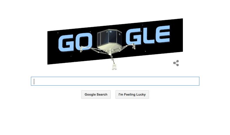 Philae Lander Google Doodle