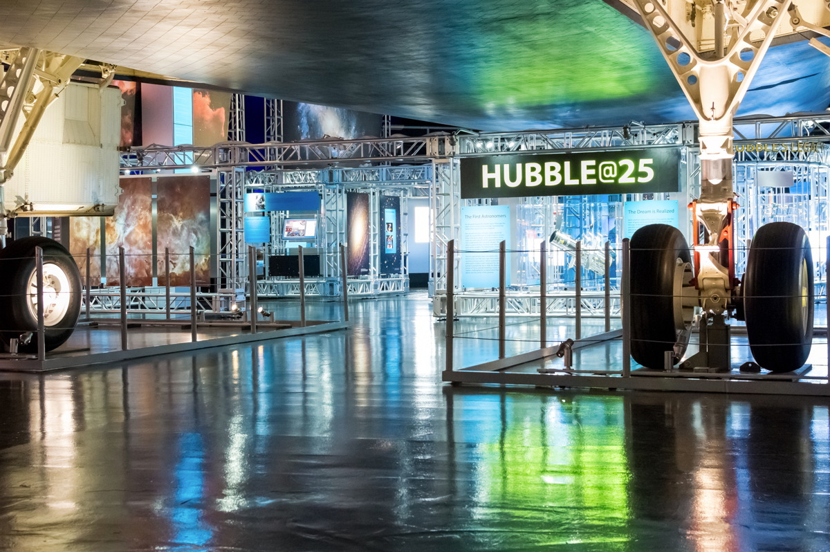 HUBBLE@25 Exhibit at the Intrepid Sea, Air & Space Museum