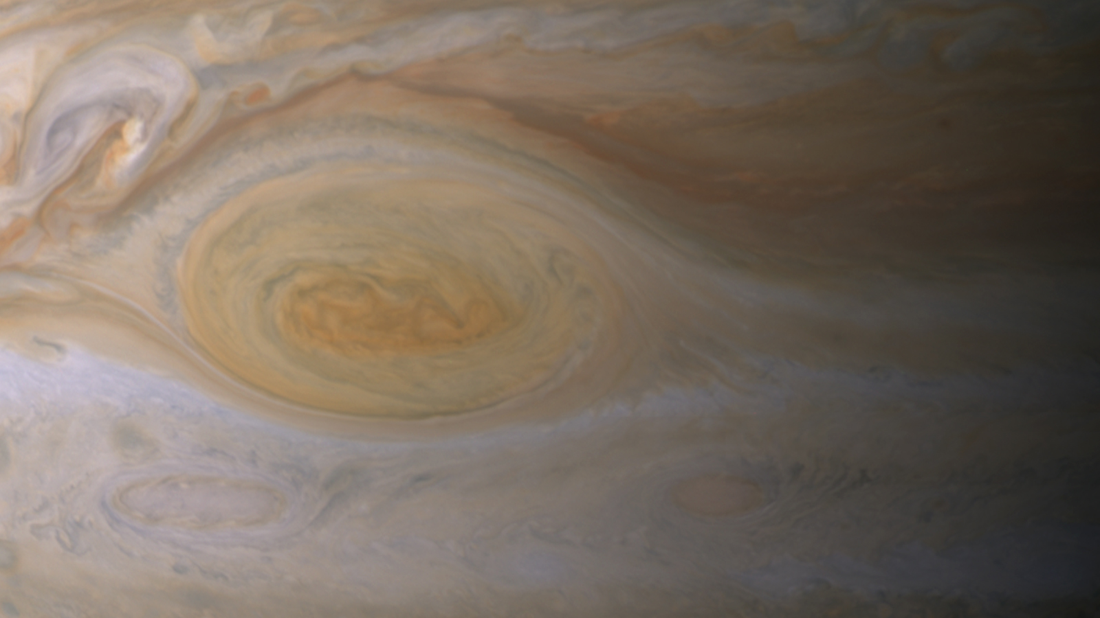 Great Red Spot closeup
