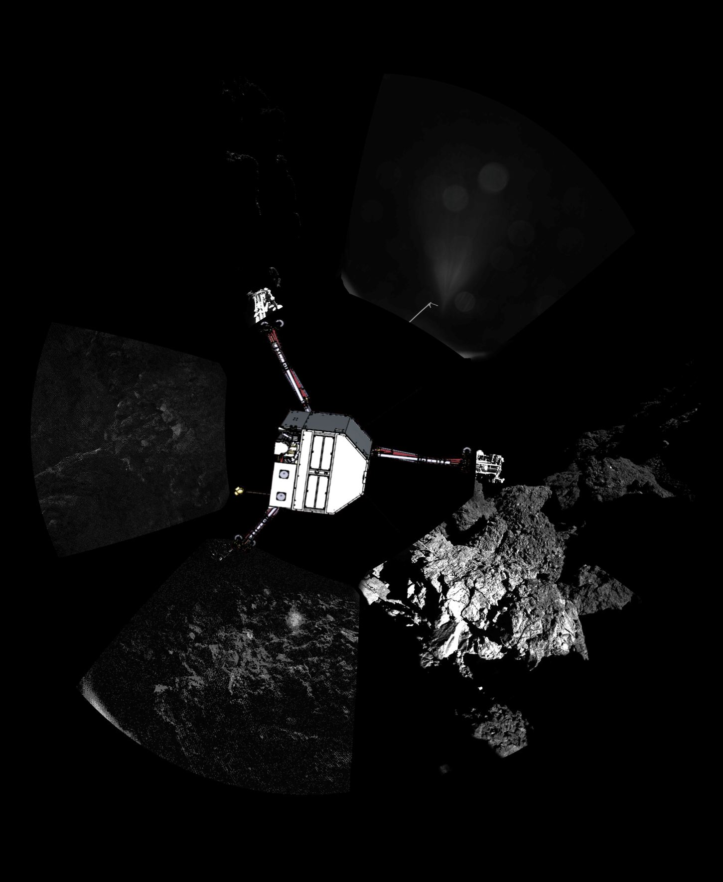 1st Comet Panorama from Philae Lander
