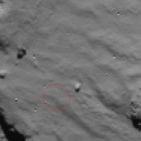 Philae Touchdown Site Before