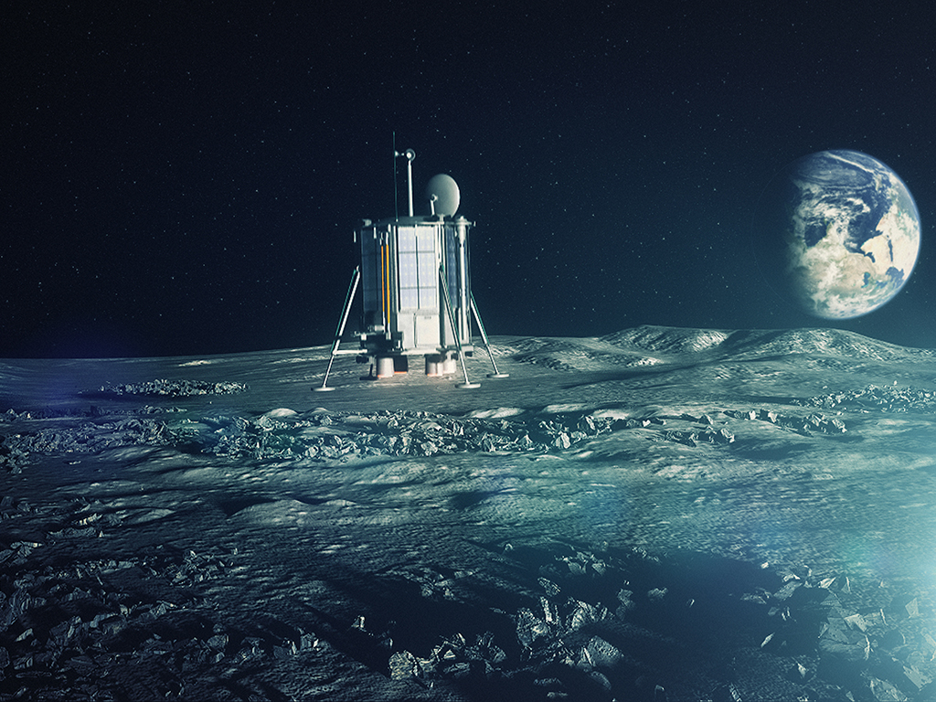 Private Moon Mission Aims to Drill Into Lunar South Pole by 2024