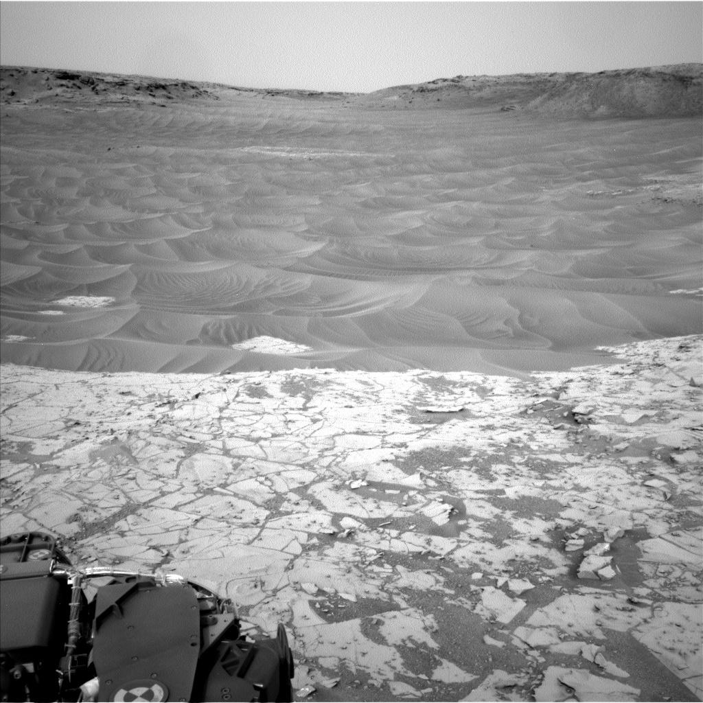 Ripples Next to 'Pahrump Hills' Outcrop at Base of Mount Sharp on Mars