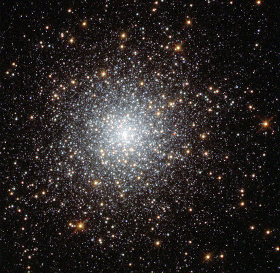 A Hubble image shows the globular cluster Fornax 3 in the dwarf galaxy Fornax. Astronomers are mystified by stars that seem to be missing from the cluster.
