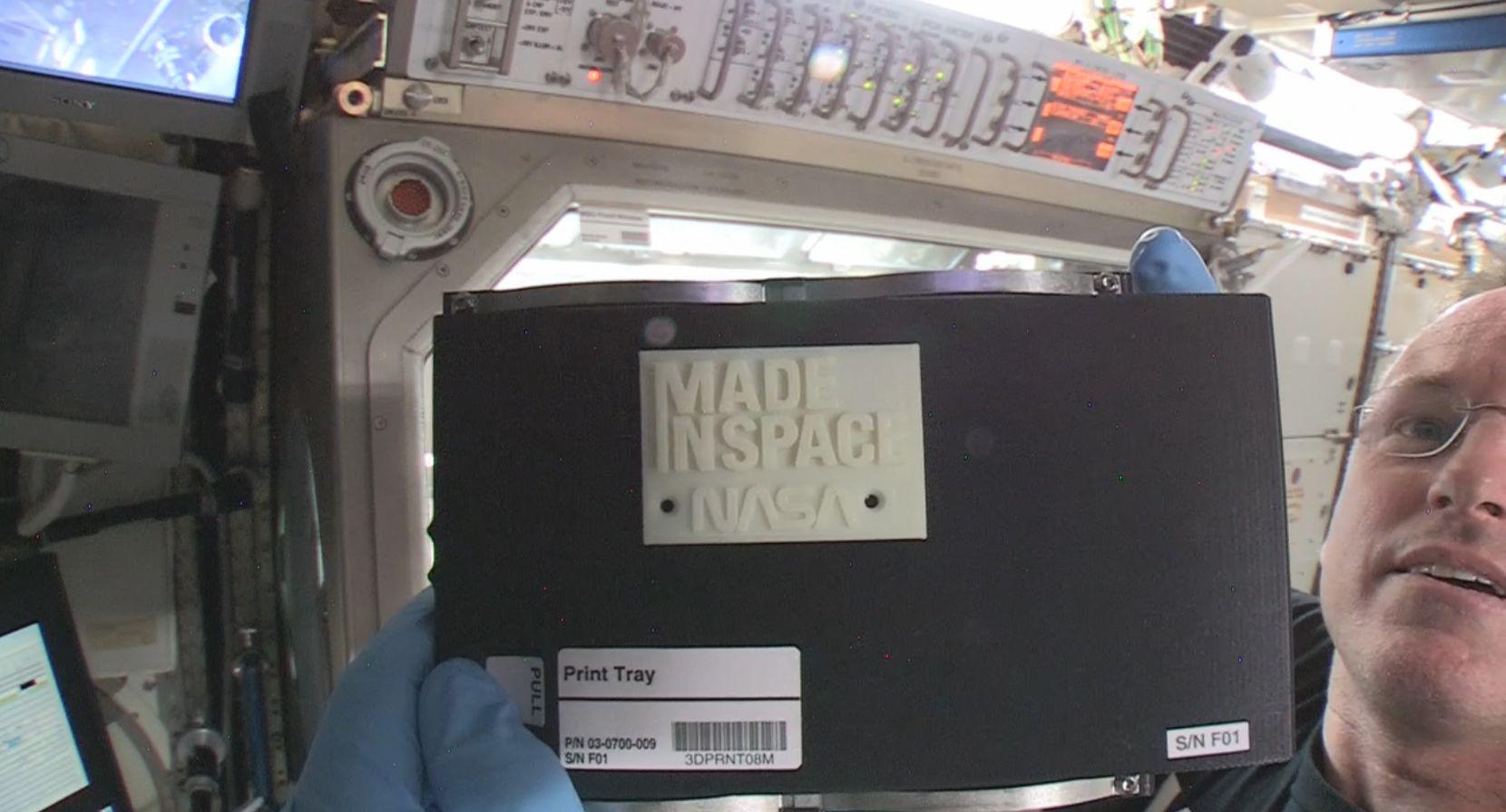Space Station's 3D Printer Makes 1st Part