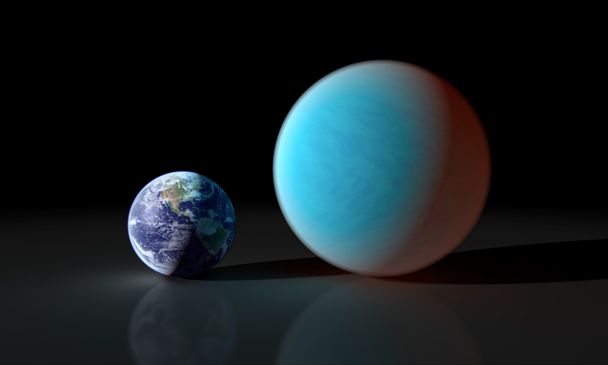 Earth and Super-Earth Illustration
