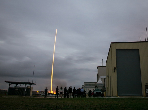 A Delta 4 Heavy rocket carrying NASA's Orion spacecraft lifts off from Cape Canaveral Air Force Station at at 7:05 a.m. EST, Dec. 5, 2014, in Florida.