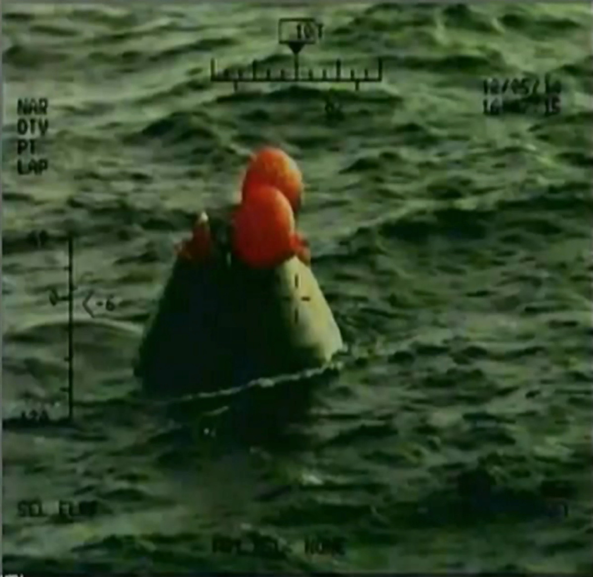 Orion Capsule Post-Splashdown