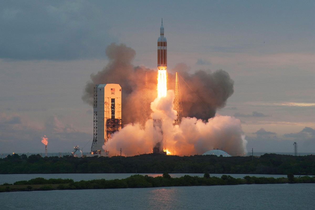 United Launch Alliance Delta 4 Heavy Rocket Launches Orion #1