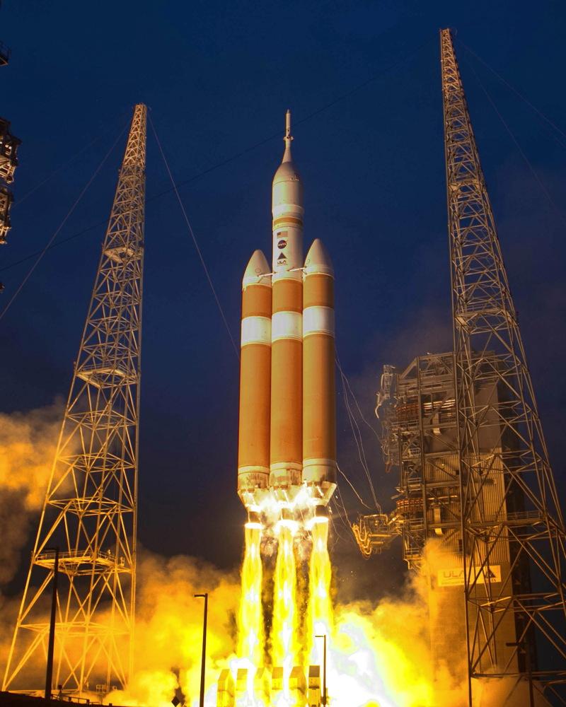 United Launch Alliance Delta 4 Heavy Rocket Launches Orion #3