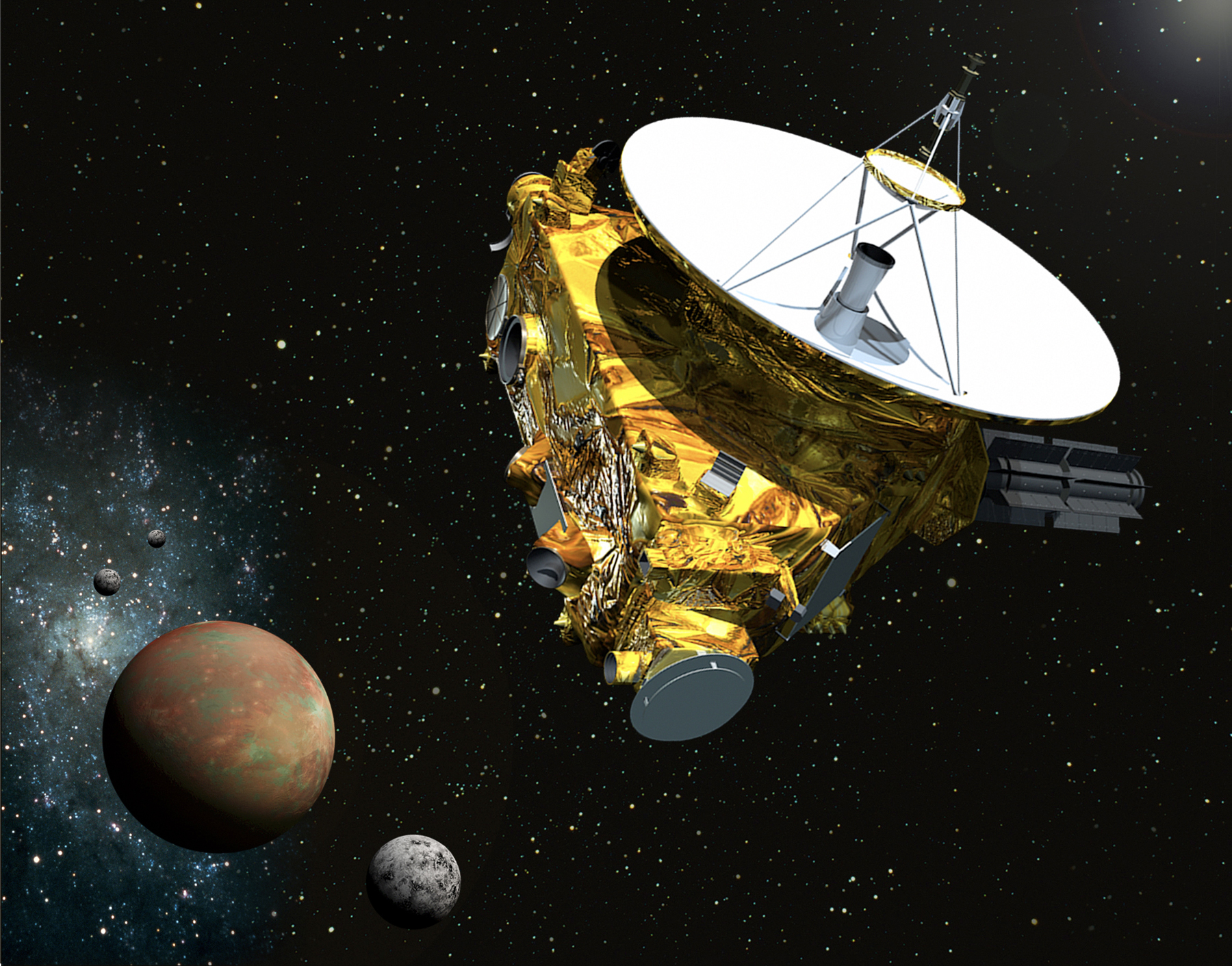 NASA's New Horizons Spacecraft Wakes Up for Pluto Encounter in 2015