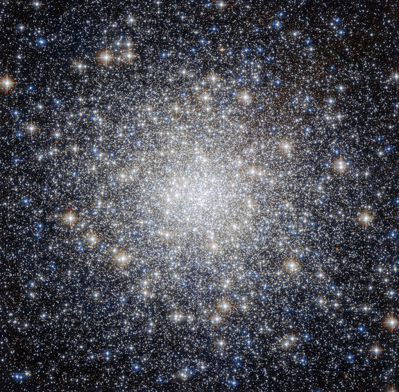 Globular cluster Messier 92 lies in the northern constellation of Hercules. Image released Dec. 8, 2014.