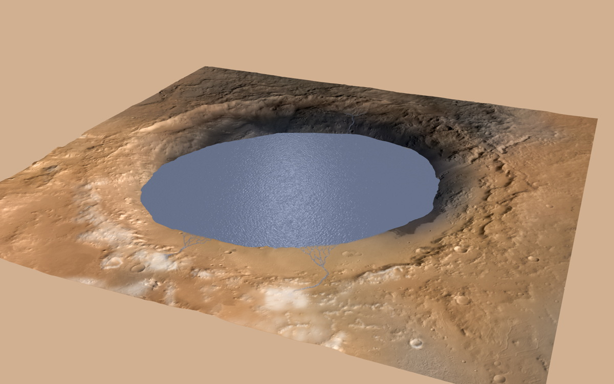 Giant Crater on Mars Was Once a Vast Lake, Curiosity Rover Shows