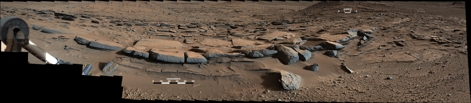 Bedding Pattern Interpreted as Martian Delta Deposition
