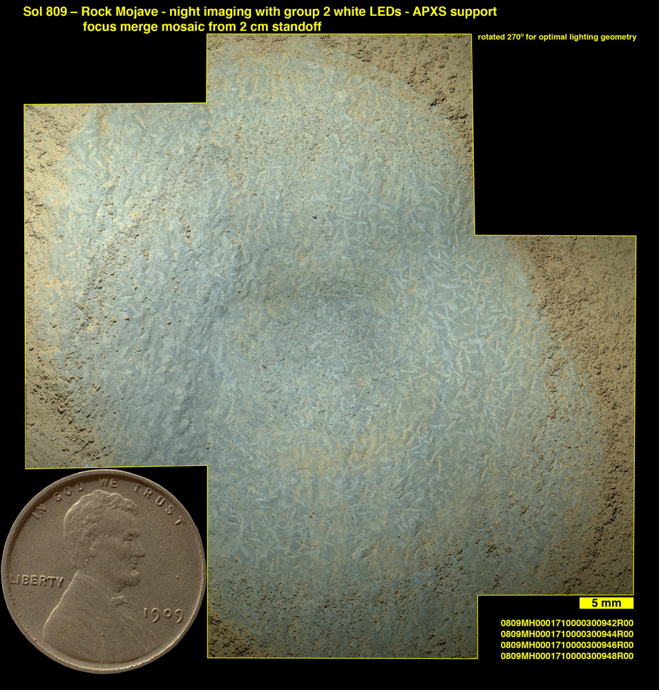 Crystals May Have Formed in Drying Martian Lake