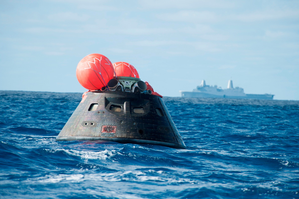 Orion Capsule with Ship
