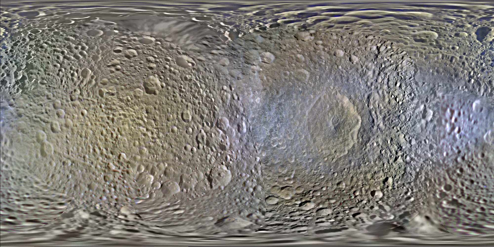 2014 Map of Mimas
