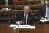 Bill Gerstenmaier, NASA's associate administrator for human exploration and operations, testifies before Congress on Dec. 10, 2014 about the Space Launch System.