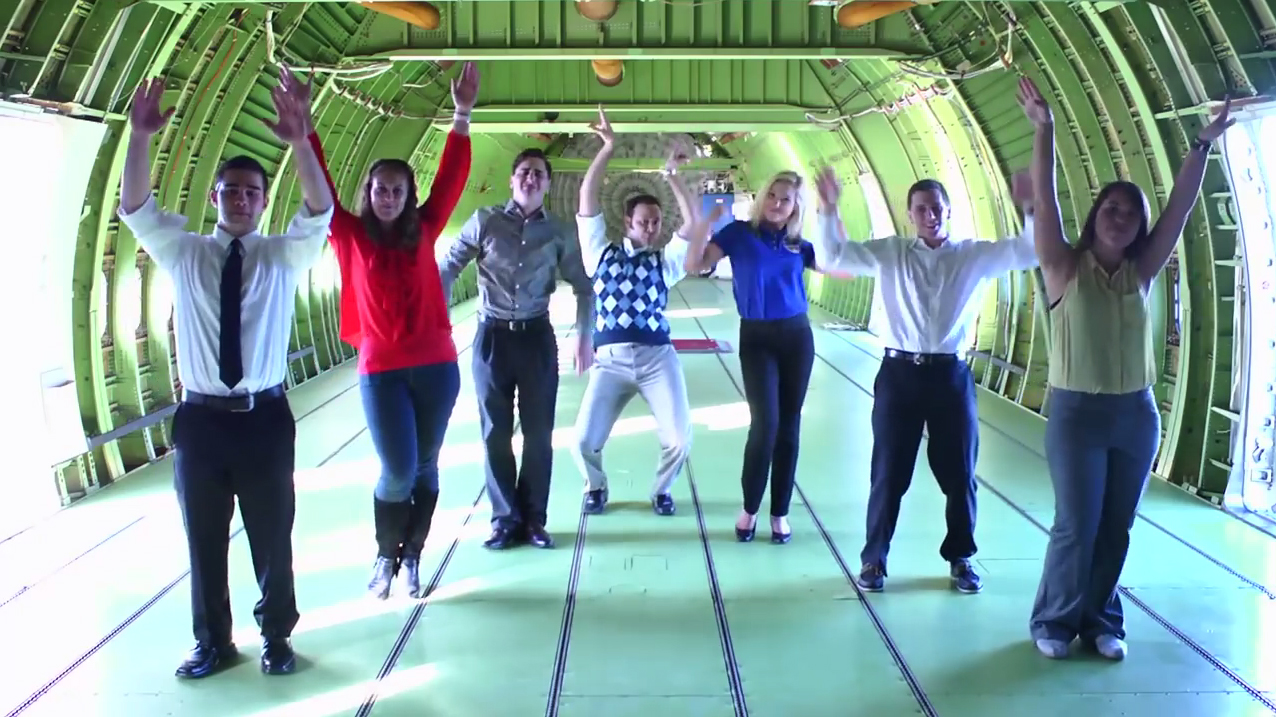 "NASA interns dance to ""All About That Space,"" a parody of ""All About That Bass"" by Meghan Trainor, in the latest music video from the Johnson Space Center in Houston."