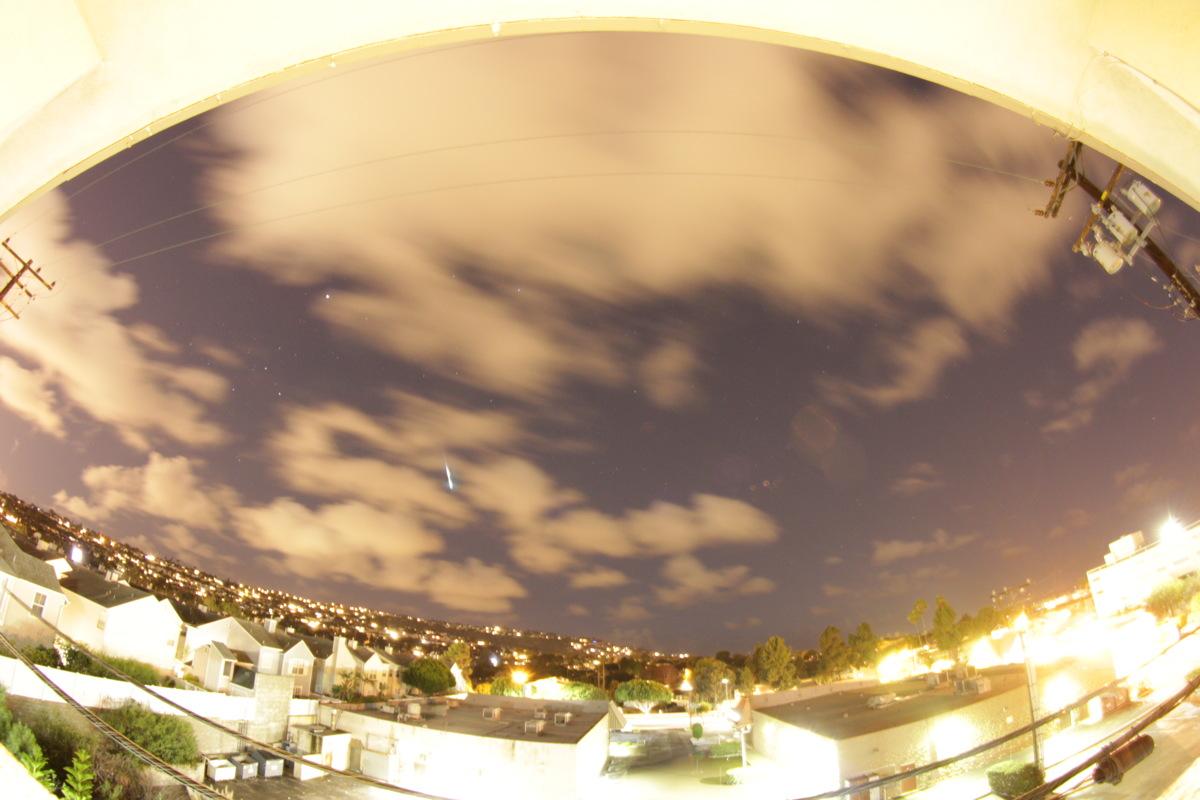 2014 Geminid Meteor Over Redondo Beach, California