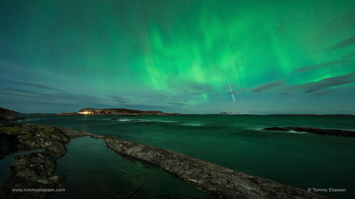 2014 Geminid Meteor Over Lovund, Norway