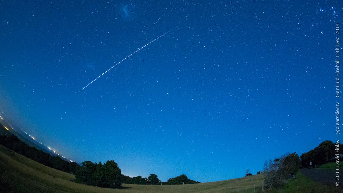 2014 Geminid Fireball Over Australia