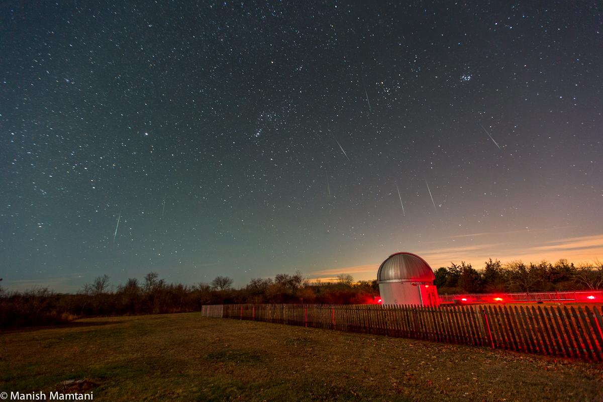 2014 Geminid Meteor Shower Over Rhode Island