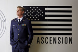 """Actor Brian Van Holt portrays William Denninger, Captain of the Ascension starship in the SyFy miniseries """"Ascension."""""""