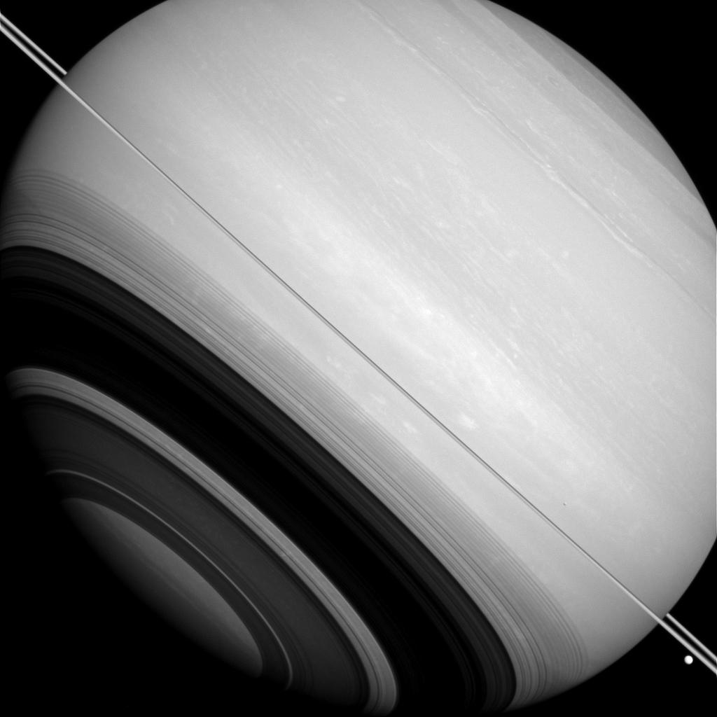 Saturn's Rings Edge On