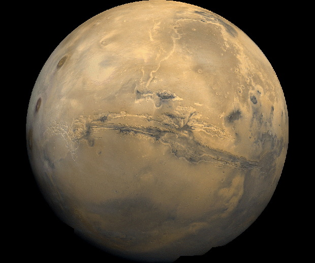 Glaciers on Mars Likely Helped Carve Red Planet's 'Grand Canyon'