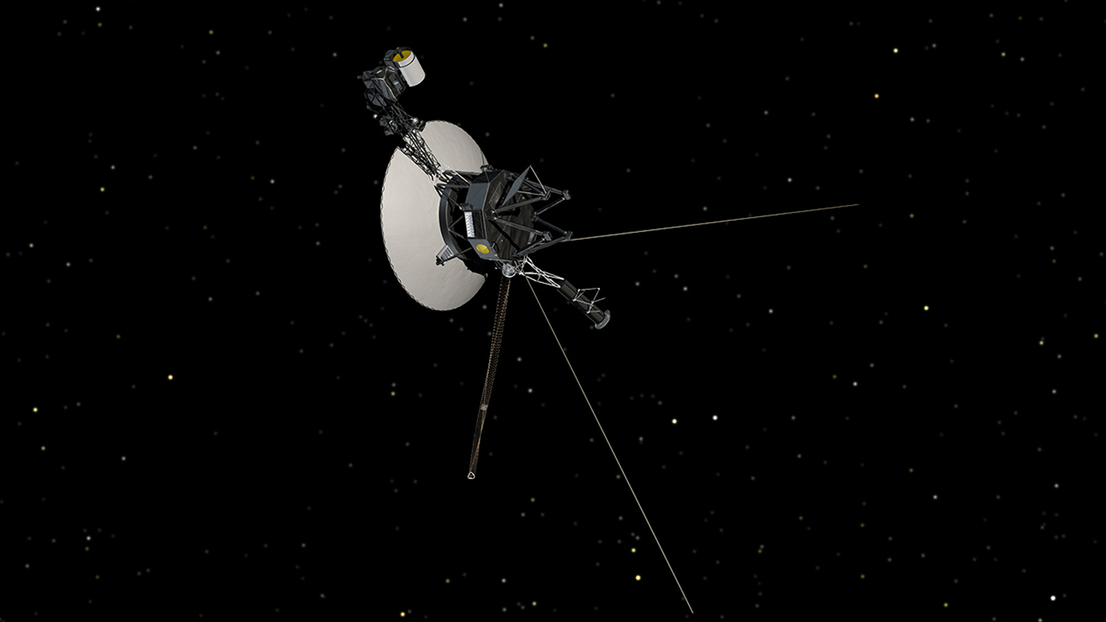 Voyager spacecraft in space