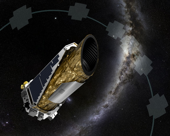 An artist's illustration depcits NASA's planet-hunting Kepler spacecraft working in a new mission profile called K2. Astronomers have used publicly available data to confirm K2's first exoplanet discovery, proving Kepler can still locate planets.