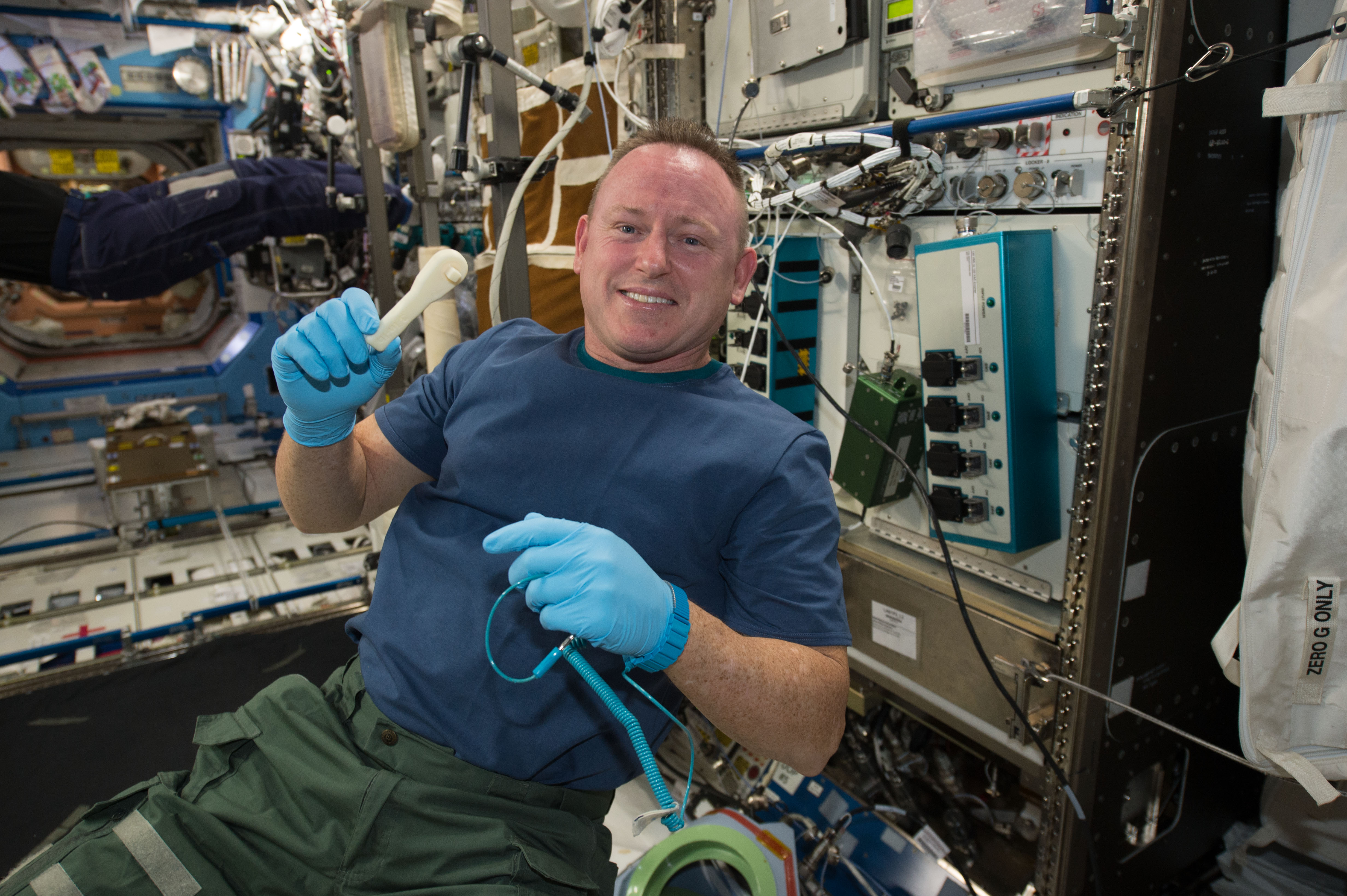 Space Station's 3D Printer Makes Wrench From 'Beamed Up' Design