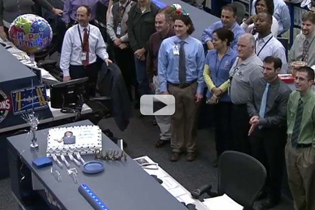 Mission Control Sings Happy Birthday To ISS Commander | Video