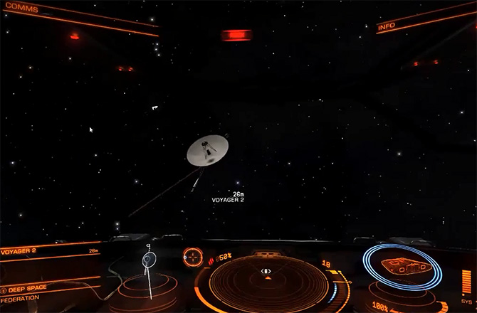 Voyager 2 in 'Elite: Dangerous' Game