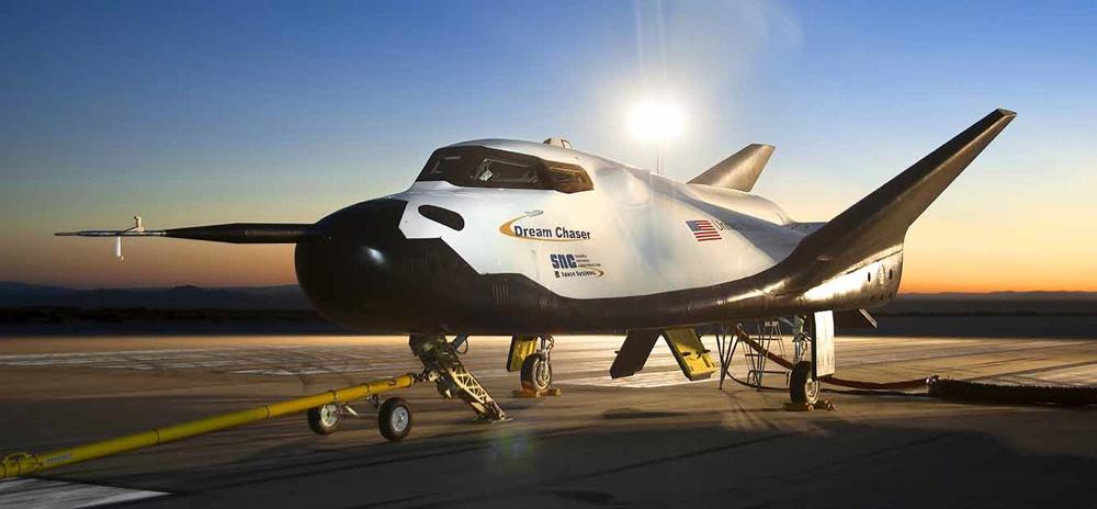Sierra Nevada's Dream Chaser spacecraft at NASA's Dryden Flight Research Center in California.