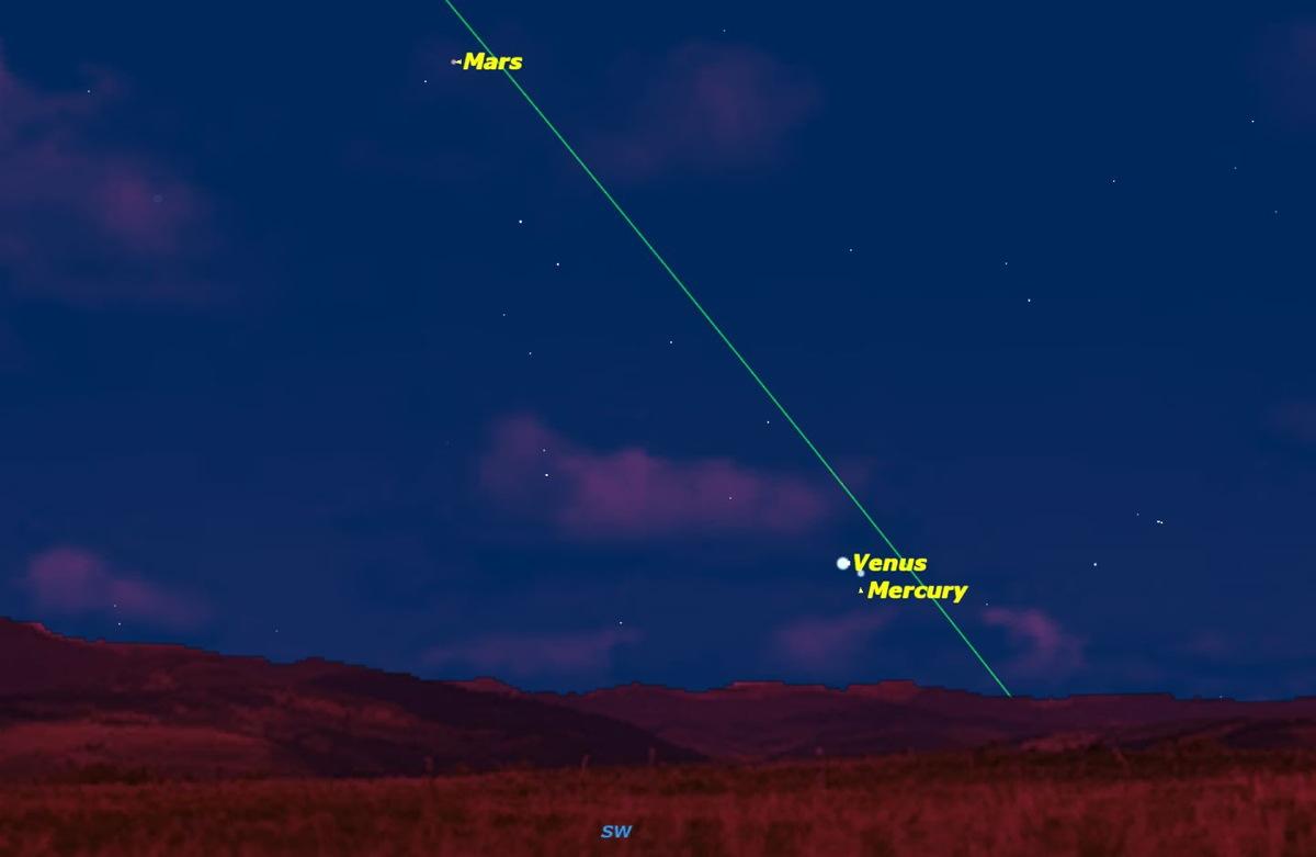 Venus Points the Way to Mercury in Night Sky This Week