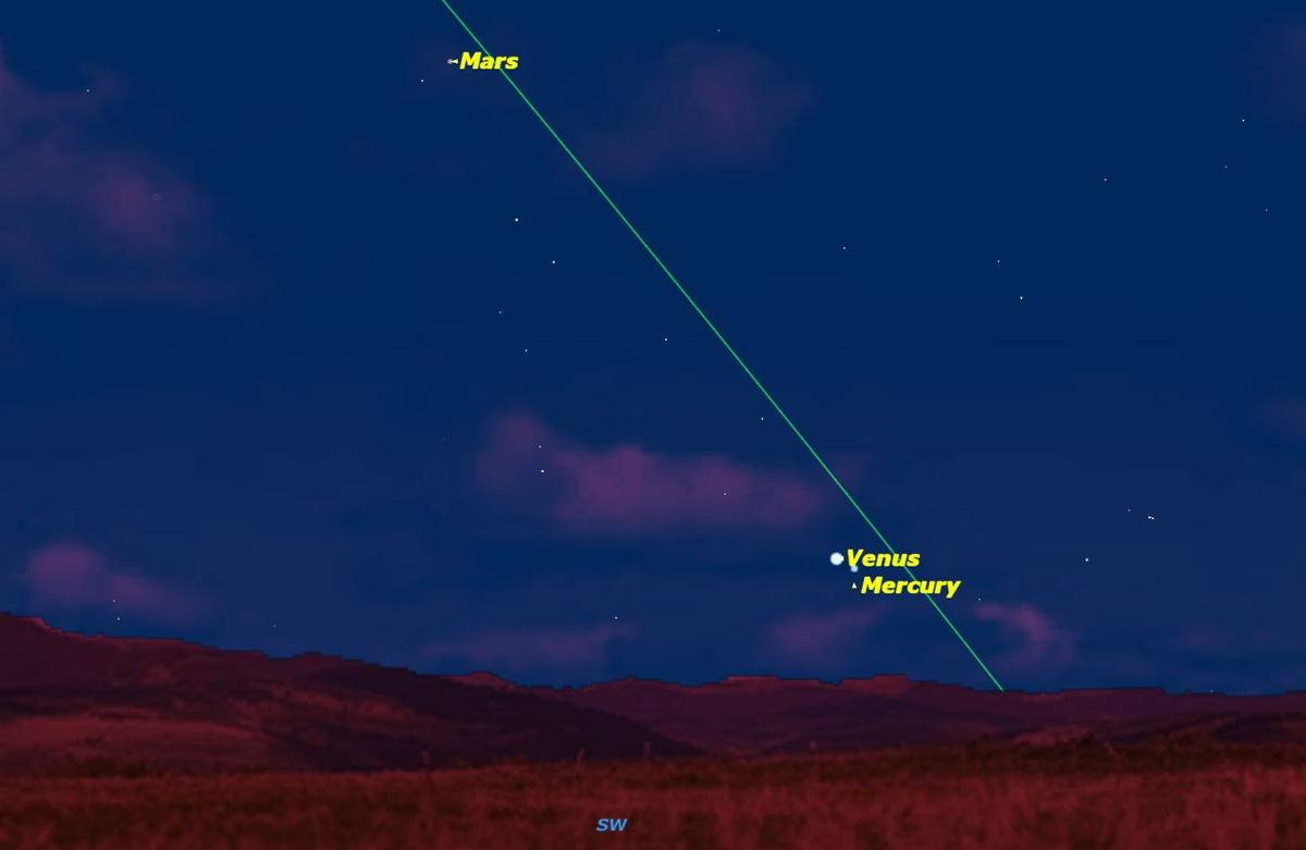 Venus Points the Way to Mercury in Night Sky This Week
