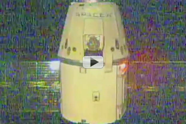 SpaceX Dragon Captured and Docked To Space Station | Video
