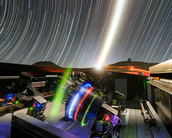 The Next-Generation Transit Survey (NGTS) stands at ESO's Paranal Observatory in northern Chile.