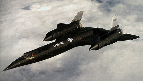 The A-12 aircraft, one of several vehicles developed under the OXCART program that purportedly sparked UFO sightings.